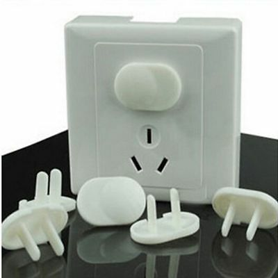 20X Child Baby Proof Electric 2/3 Plug Hole Safety Outlet Socket Protector Cover