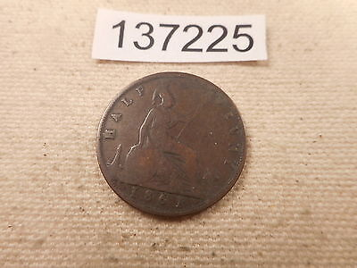 1861 Great Britain Half Penny Very Nice Collectible Higher Grade Coin - # 137225