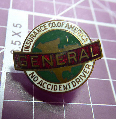 Enamel General Insurance Company Of America No Accident Driver Collar Pin Safeco