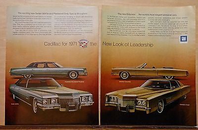 1970 magazine ad for Cadillac - 1971 models, Eldorado, Fleetwood, Sedan deVille