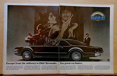 1968 two page magazine ad for Oldsmobile - 1969 Toronado, For Great Car Lovers