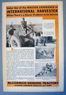 Original 1936 Farmall 30 Ad Endorsed by Kenneth Royer of New Richmond Indiana