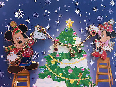 Japan Disney JDS Magical Holiday 2005 4 Pin Framed Set Mickey & Minnie Only