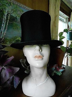 Vintage 1900's Mens collapable TOP HAT  FINCHLEYS  Opera