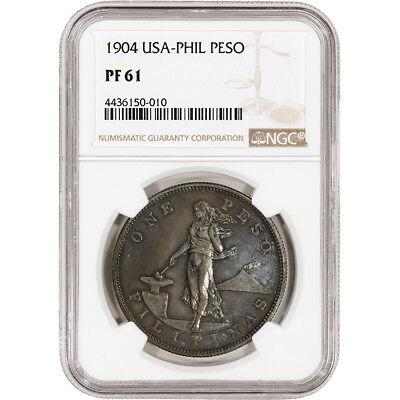 1904 USA Philippine Silver Peso Proof - NGC PF61