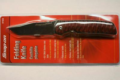 "Snap On 871040 Pakkawood Handle 3-1/4"" Tanto Blade Folding Pocket Knife New"