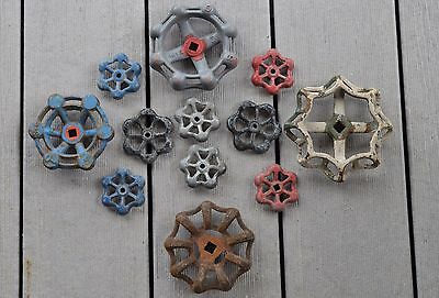12 Vintage Antique Cast Iron Aluminum Water Valve Handles Knobs Craft Steampunk
