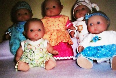 Berenguer 5 Inch Baby Doll   Clothes Sewing Pattern  PLUS DOLL