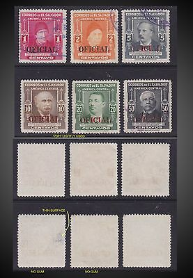 1947 - El Salvador Very Rare Complete Issue Official Overprint Sct.362 -364 Used