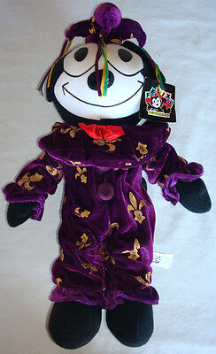 """Felix The Cat """"2003 Plush""""  15"""" Clean Kitty Purple Jester With Original Tags!"""