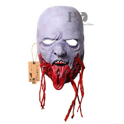 Ghost Latex Halloween Mask Masquerade Fancy Party Costume Dress Scary Horror New