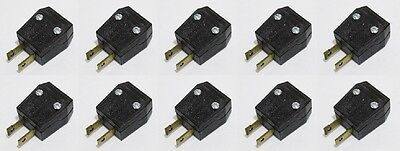 10x LEVITON Polarized AC Plug 2 Prong Light Duty Plug 15A -125V  Dark Brown