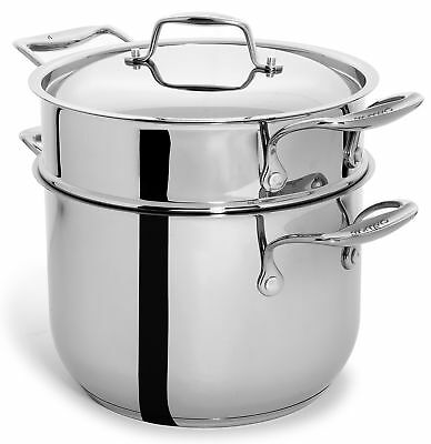Culina 6 Quart Pot Cookware with Pasta Insert and Lid, 18/10 Heavy Gauge Stainl