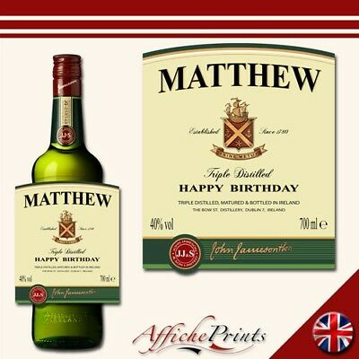 L23 Personalised Irish Whiskey Bourbon Bottle Label - Perfect Gift Any Occasion!