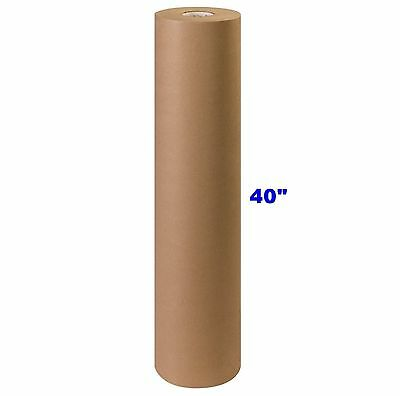 """40"""" x 900' Brown Kraft Paper Roll 40# lb Shipping Wrapping Packaging Cushioning"""