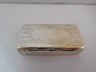 Fine Early Victorian English Sterling Silver Snuff Box