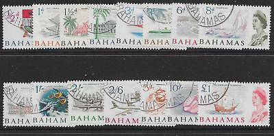 Bahamas Sg247/61 1965 Definitive Set Used