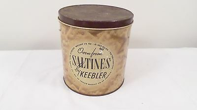 Vintage Keebler Saltines Advertising Tin
