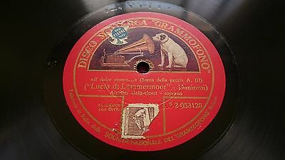 "Amelita Galli-Curci ‎- Il Dolce Suono , Shellac, 12"", 78 RPM, Single Sided Italy"