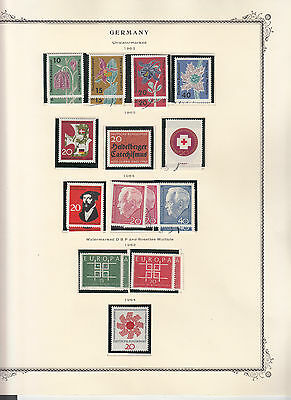 Germany - 1963/1964 stamp collection on Scott pages - MNH/MH/Used