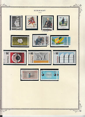 Germany - 1983/1984 stamp collection on Scott pages - MNH/Used