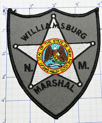 New Mexico, Williamsburg Marshal Police Dept Patch