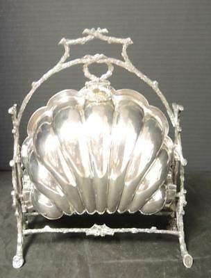 Beautiful Antique Victorian Silver Plated Folding Biscuit Box * Mappin & Webb