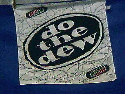 Vintage Mountain Dew Bandana or Hanky-22x22in Cotton-DO THE DEW-excellent