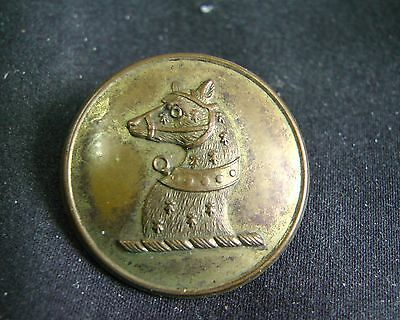 1800-1840 HEAD of MUZZLED COLLARED BEAR Gilt Livery Button 27mm G&H Bullivant