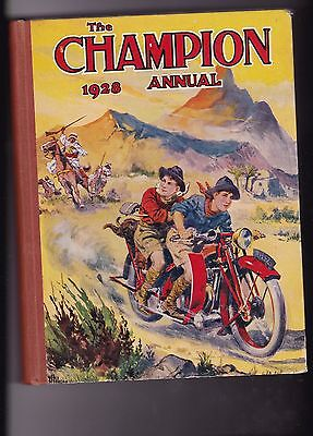 The Champion 1928 Annual Hardcover Short Story & Picture Book for Boys & Girls