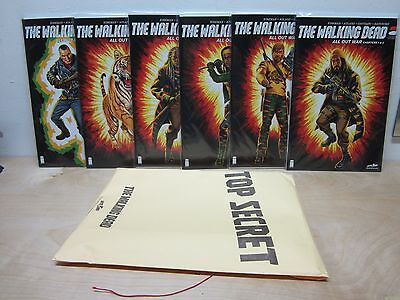 Skybound Exclusive Sdcc Walking Dead All Out War Shiva Force Variant 115-126 Set