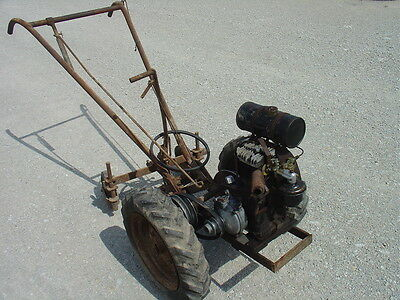 Antique Walk Behind Tractor/Cultivator Clinton 702 ABR6 Runs - See The Video