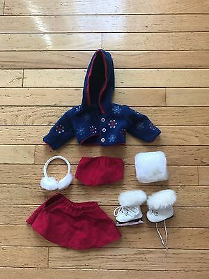 American Girl Molly Skating Outfit RETIRED – 7 Pieces Including Skates