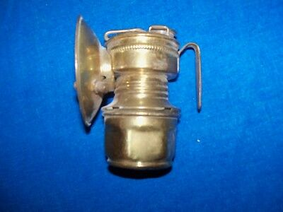Antique Coal Mine Mining Miners Brass Guys Dropper Shanklin Carbide Lamp Light