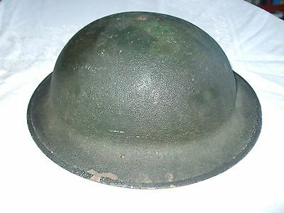 Old Army Helmet Sandy Grain Finish Ww I? Marked Z D