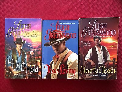 Leigh Greenwood- LOT OF 3 HISTORICAL ROMANCE NOVELS- PB
