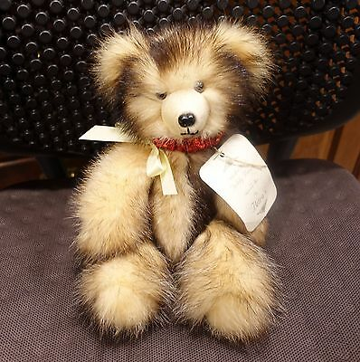 "Beautiful Natural Fitch FurTeddy Bear  By Petra's 12"" Movable Arms & Legs"