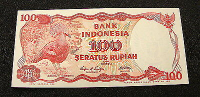 1984~~Bank Indonesia~~~100 Rupiah Currency Note,, Clean and Crisp
