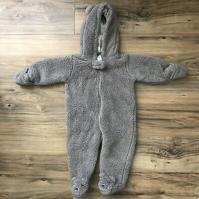 Carters Baby Bear winter furry Bodysuit 6 Months