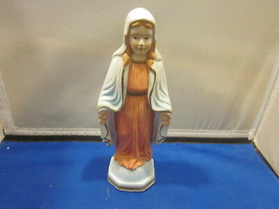 VIRGIN MARY FIGURINE STATUE Ahbra Cale MOTHER MARY RELIGIOUS FIGURE 8 1/4""
