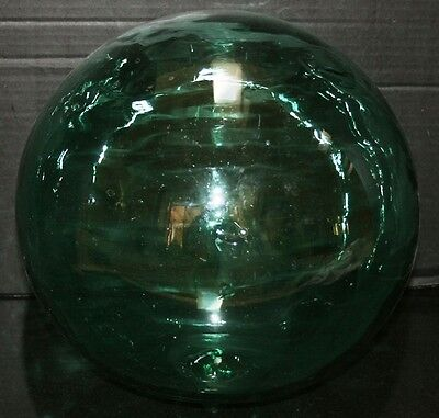 Rare HUGE Antique Green Glass Fishing Float Buoy Marked 37.5""