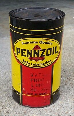 Vintage Pennzoil 10 lb Water Proof Lube No. 362 UNOPENED 10 pound can