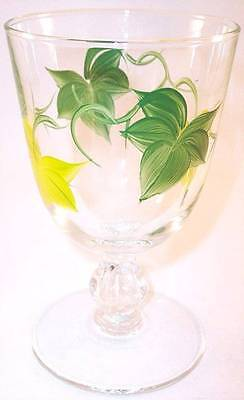 Franciscan Ivy Libbey 3003 Glass Goblet, American, with FLAW