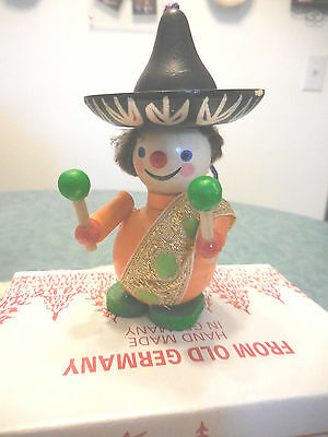Steinbach Wooden Ornament  Mexican with Large Feet   NIB Made in Germany 188