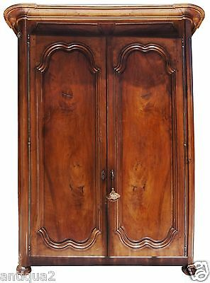 1700s SIGNED FRENCH LOUIS XIV CARVED WALNUT ARMOIRE CABINET ENTERTAINMENT CTR