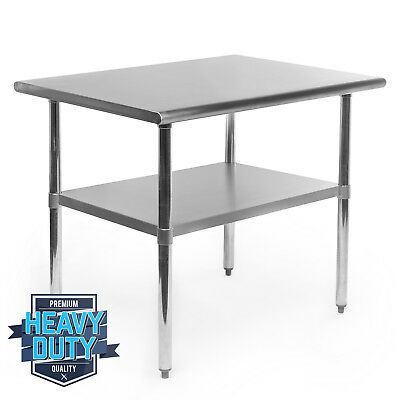 """Stainless Steel Commercial Kitchen Work Food Prep Table - 24"""" x 36"""""""