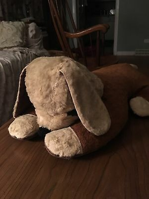 Old Vintage Sleeping Dog stuffed animal from the 1960s Very loved favorite toy