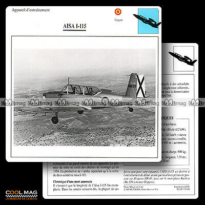 #055.08 AISA I 115 - Fiche Avion Airplane Card