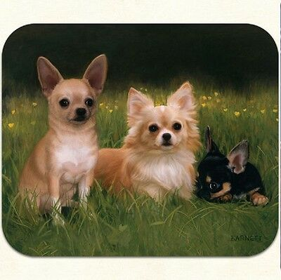 MOUSE PAD--CHIHUAHUAS on Path by Fiddler's Elbow **Beautiful**