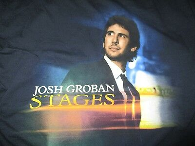"JOSH GROBAN ""Stages"" Concert Tour (LG) T-Shirt"